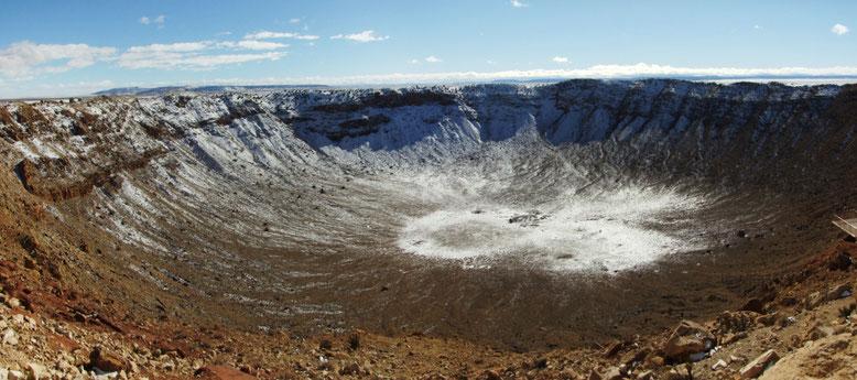 Meteor Crater zwischen Flagstaff und Winslow, AZ