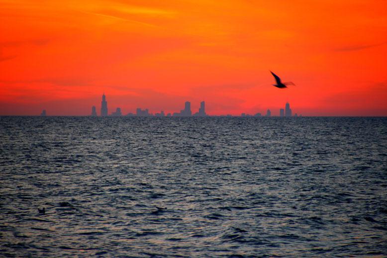 Blick von der Indiana National Lakeshore