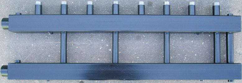 Коллектор отопления для котельной 4 контура с байпасом