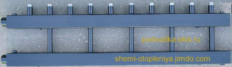 Коллектор отопления для котельной 5 контуров