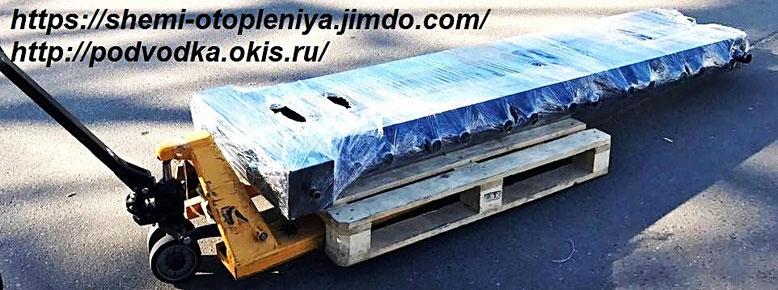 Коллектор отопления с гидрострелкой профиль 160Х160 8 контуров 2 дюйма