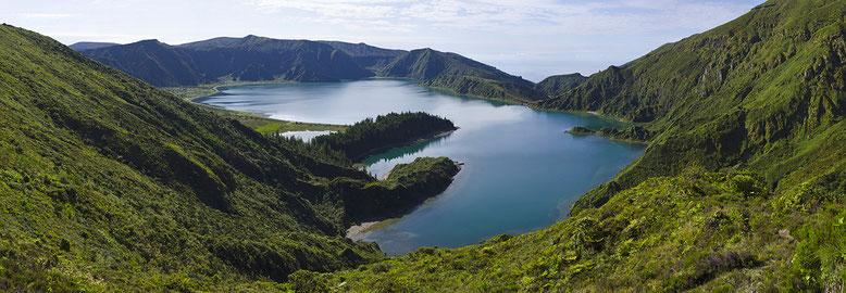 PORTUGAL (Les Açores) : Sao Miguel, Lagoa do Fogo