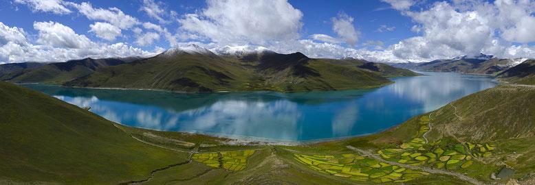 CHINE (Tibet) : Col de Kampa-La (4791m) - Lac Yamdrok (4441m)