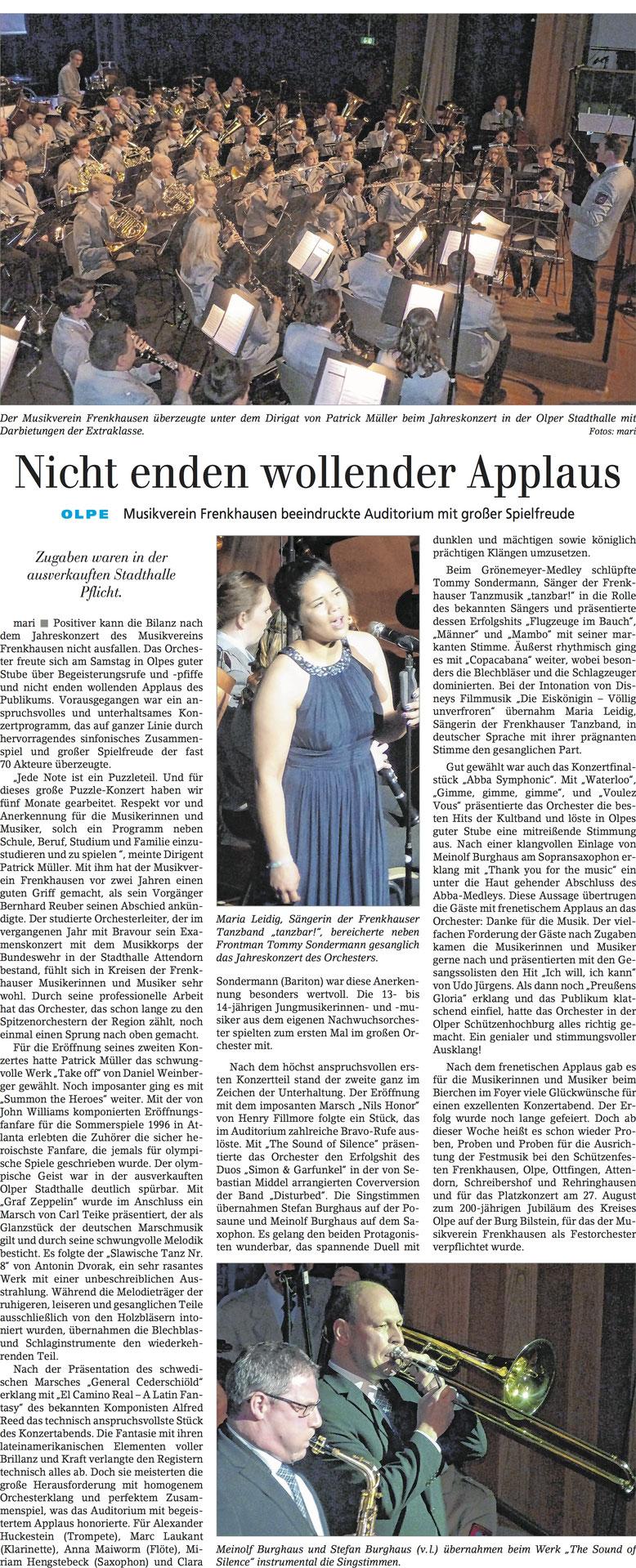 Siegener Zeitung, 14. März 2017
