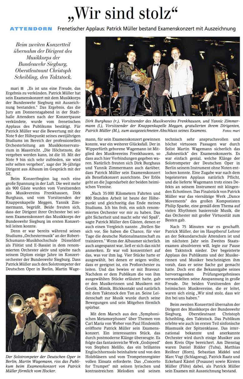 Siegener Zeitung, 30. April 2016