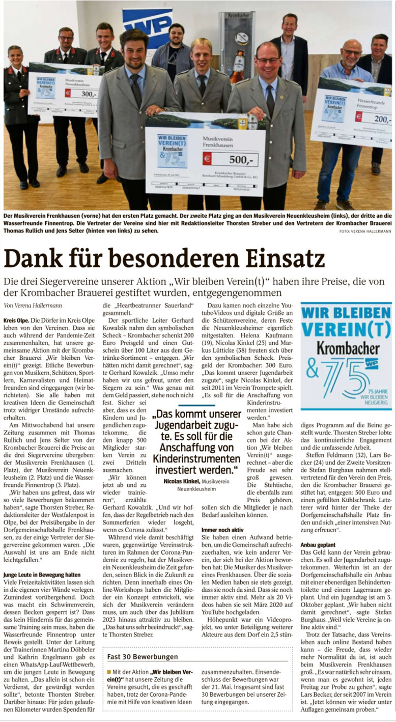 Westfalenpost, Juli 2021