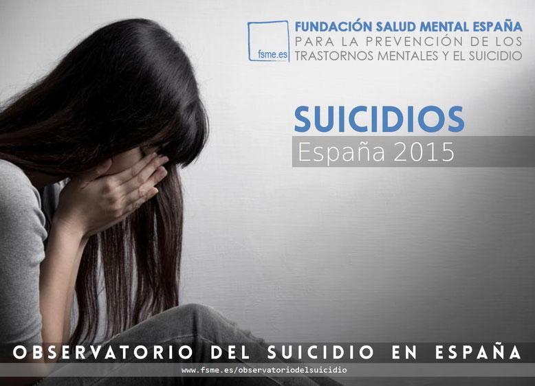 España. Suicidios 2015.