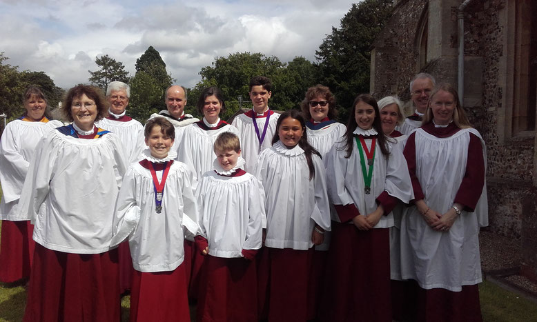 The choir on tour in Melbourn - July 2016