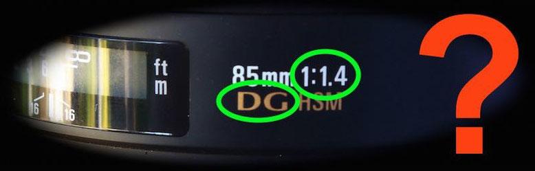 Sigma lens marking abbreviation