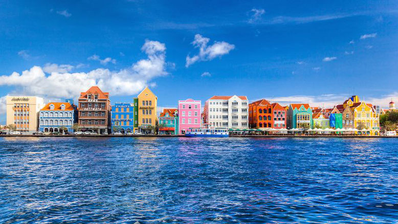 the vivid colors of Willemstad, Curaçao