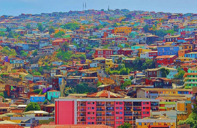 The colorful city of Valparaiso in Chile