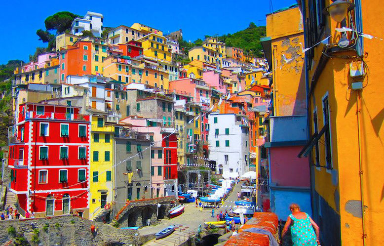 the colorful town of Riomaggiore, Cinque Terre, Italy