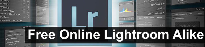 All free online photo editor Lightroom alike alternative in the web browser.