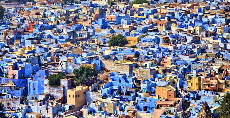 Photo of the blue town of Jodhpur in India