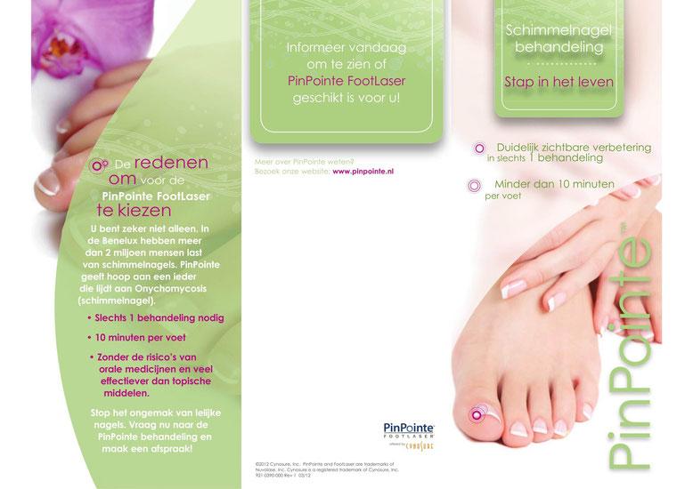 Chantilly Footlaser - PinPointe Footlaser™ Brochure - Laserbehandeling - Schimmelnagel