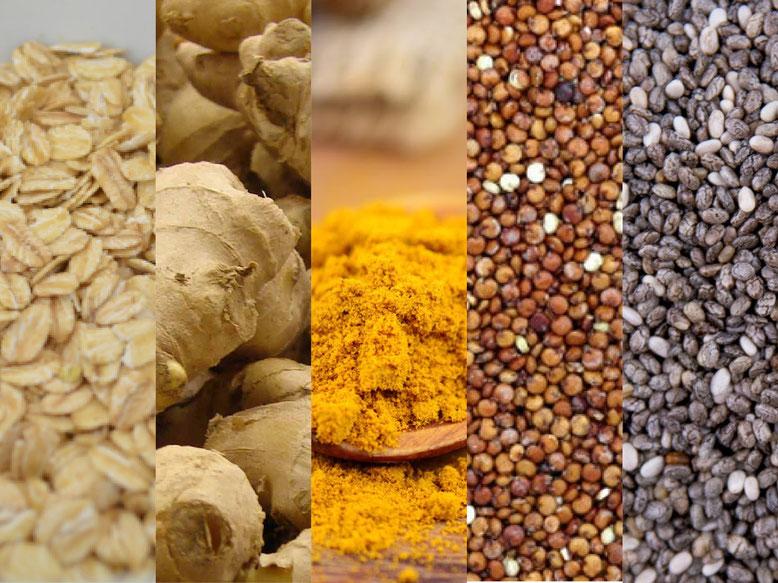 5 alimenti ricchi di proprietà benefiche per la salute dell'organismo.