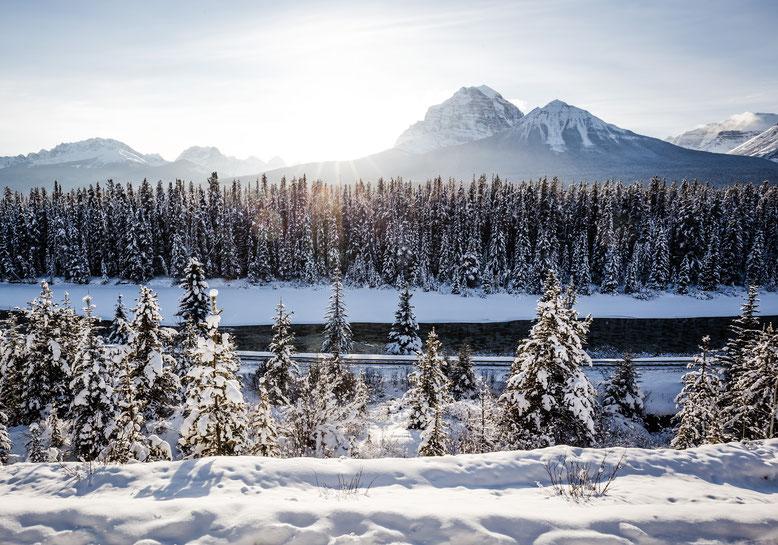Mountain views near Lake Louise in Banff National Park @InAFaraway_Land