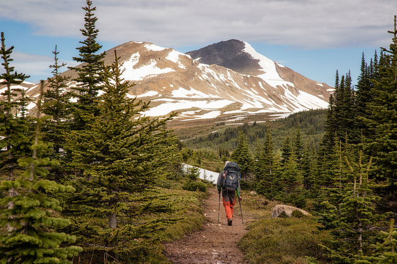 Approaching the Little Shovel Pass - A hiking guide to the Skyline Trail in Jasper National Park