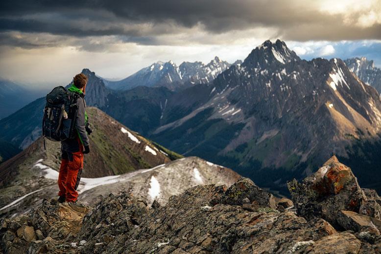 Elpoca Mountain seen from Pocaterra Ridge