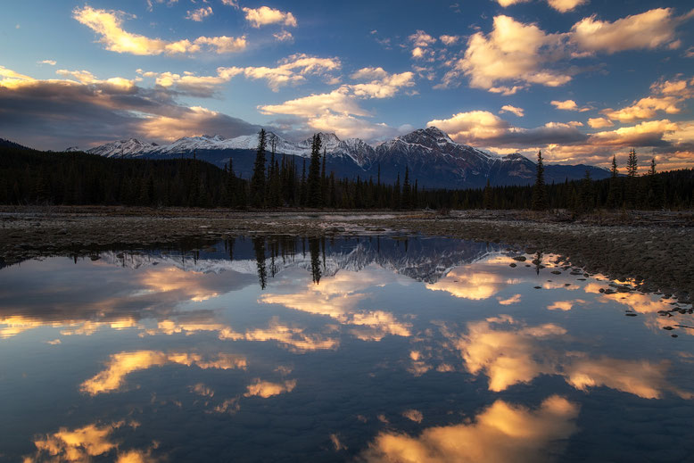 Athabasca River.  Best photography spots in Jasper National Park