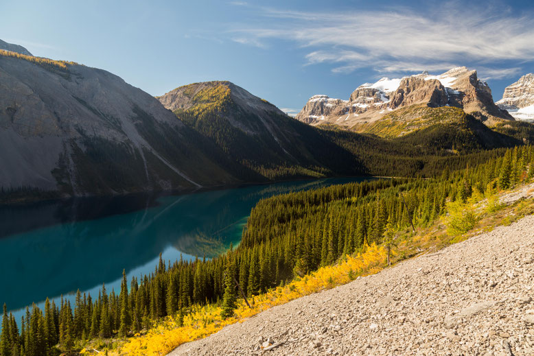 Marvel Lake on the way back from Wonder Pass. Mount Assiniboine Provincial Park