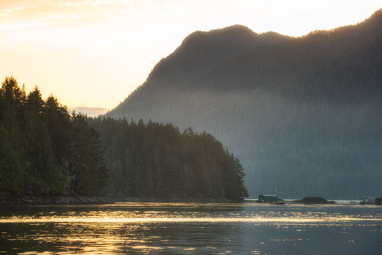 Early morning view in Tofino.Guide to Vancouver Island