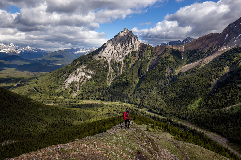 Mt Gap seen from the north end of Pocaterra Ridge in Kananaskis Country