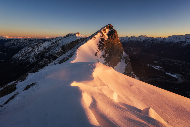 Sunrise from Miners Peak in Canmore