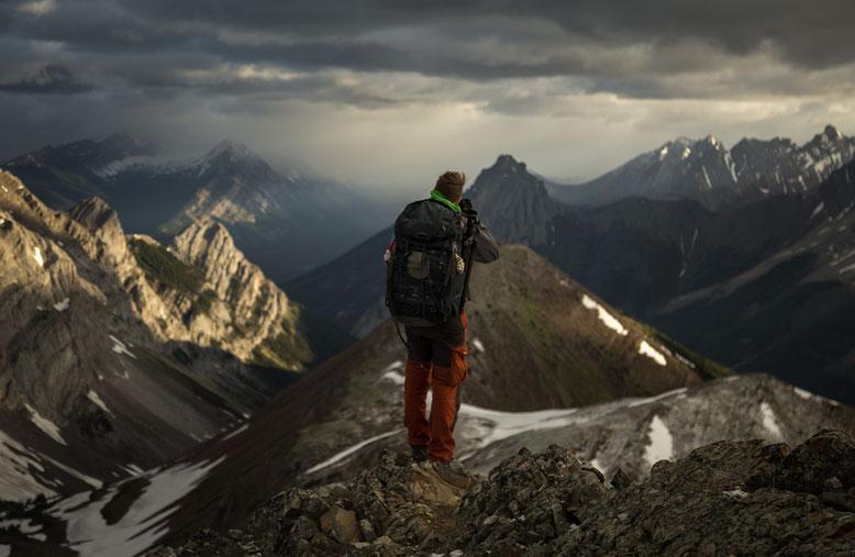 Looking towards Elpoca Mountain from Pocaterra Ridge