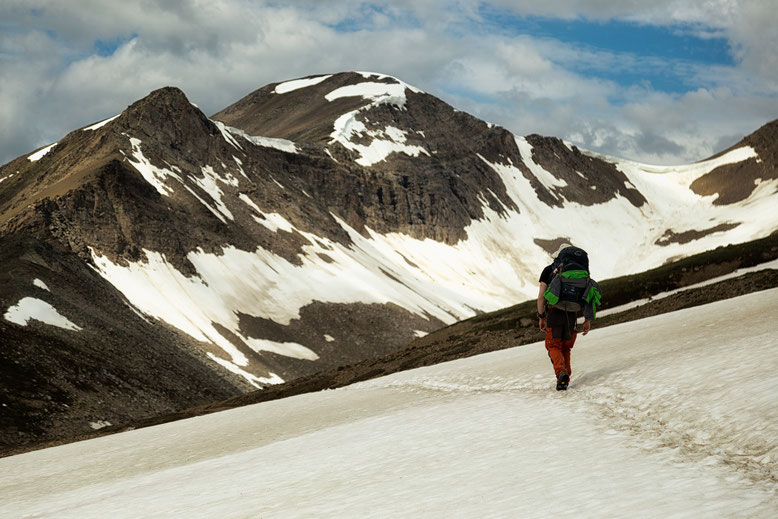 The Notch on the right hand side - A hiking excursion on the Skyline Trail in Jasper National Park