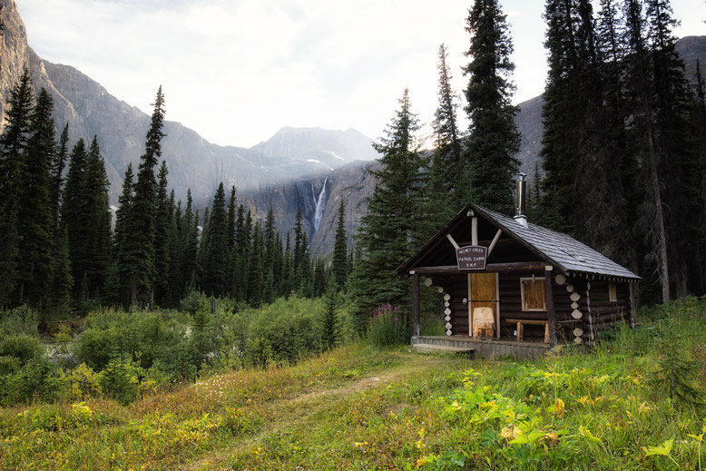 Helmet Falls Campground. Guide to the Rockwall Trail in the Kooteney National Park