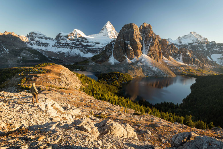 Mount Assiniboine, view from the Nublet