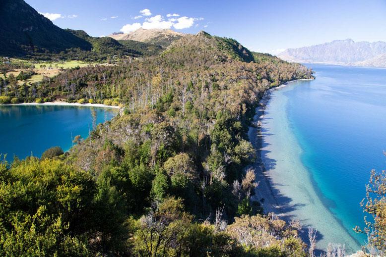 Bob's Cove and Lake Wakatipu near Queenstown, New Zealand