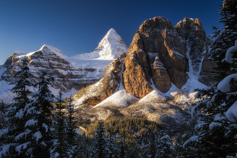 Mount Assiniboine and Sunburst peak