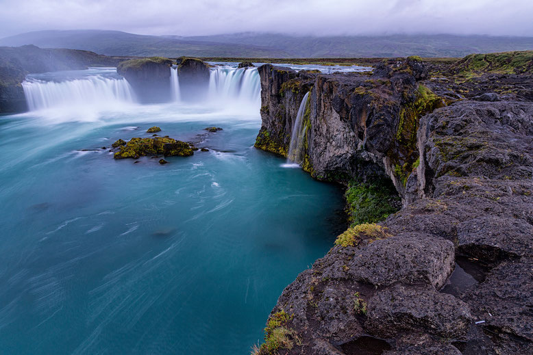 The waterfall of the gods in Iceland.