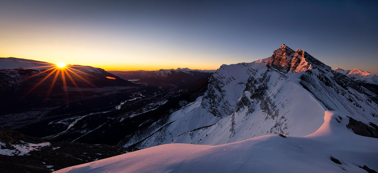 Sunrise from Ha Ling Peak in Canmore