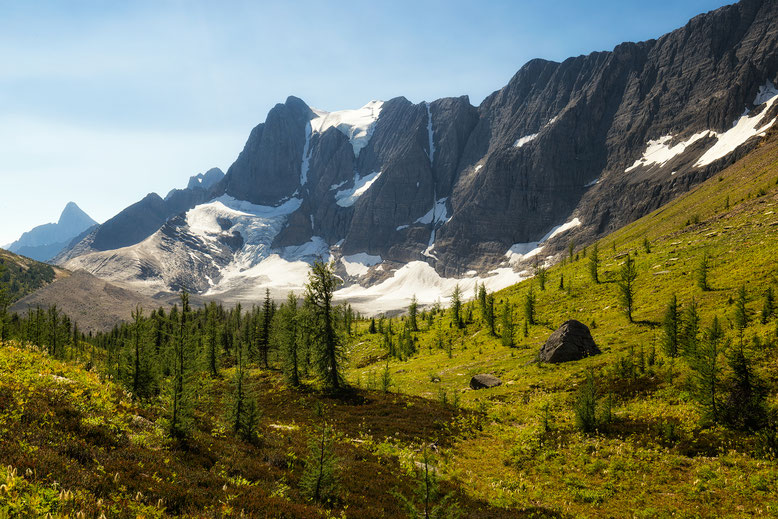 Hiking the Rockwall Trail in the Kooteney National Park in Canada