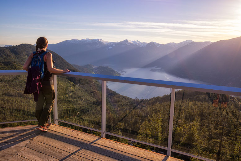 Sea to Sky Gondola view in Squamish. Guide to Sea to Sky Highway