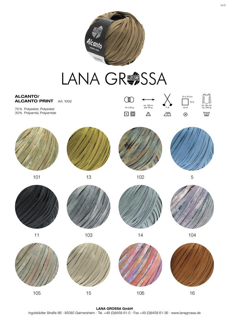 Lana Grossa 5 koralle//taupe//orange//rotbraun 50 g A Mano Wolle Kreativ Fb