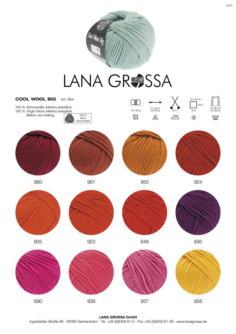 Fb Cool Wool Big Lana Grossa Wolle Kreativ 946 himmelblau 50 g