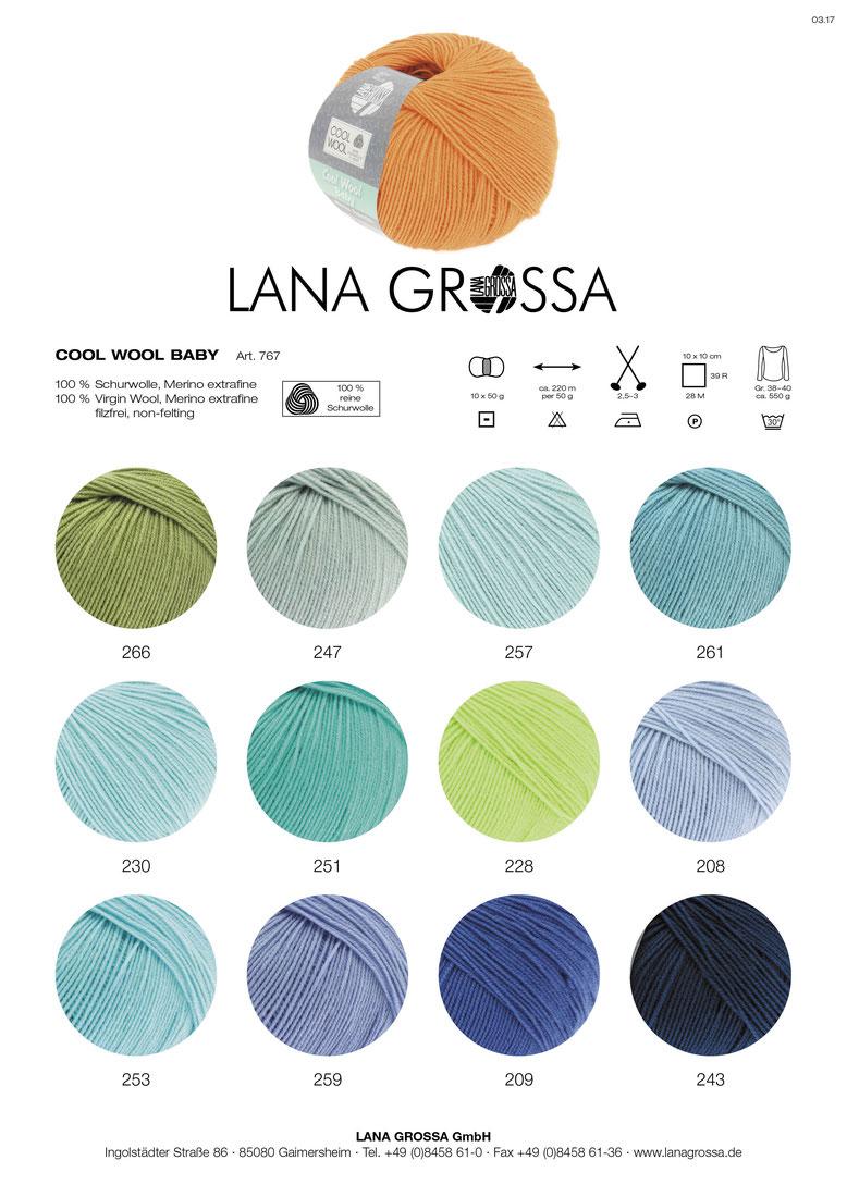 Cool Wool Baby 25gr Lana Grossa extrafeine Merinowolle Farbe 268 flieder