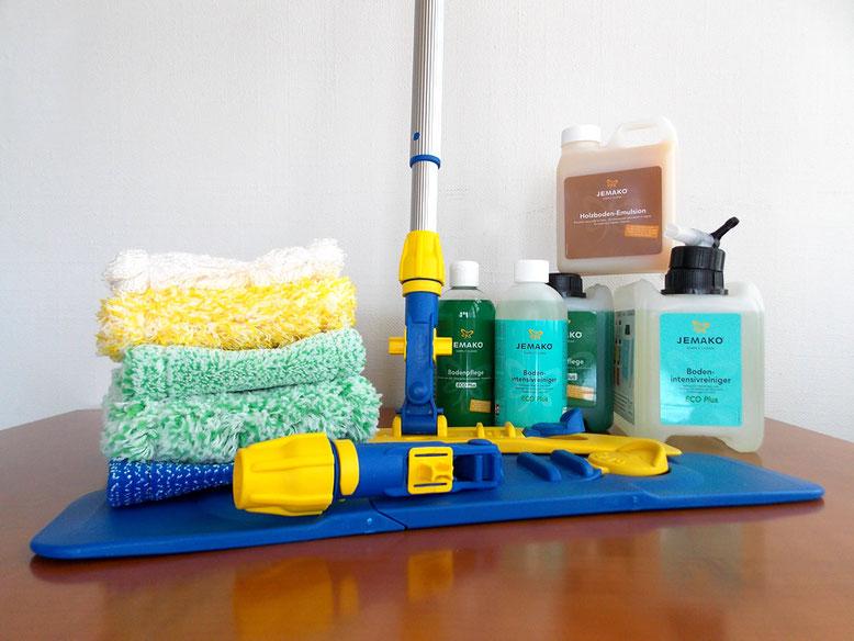 Saubere und mühelose Bodenreinigung mit folgenden JEMAKO Produkten