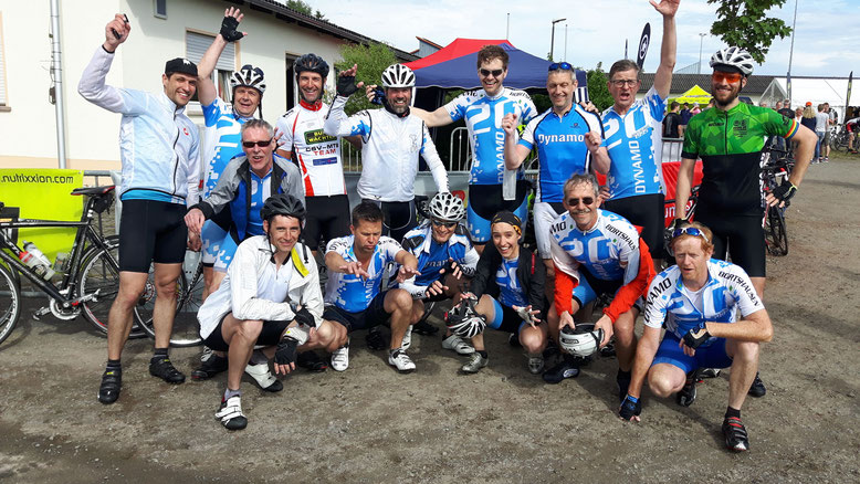 Radsportverein Dynamo Bortshausen beim Rhönmarathon 2017