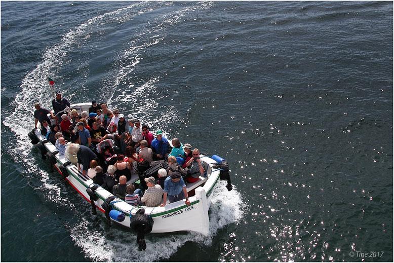 Ausbooten nach Helgoland