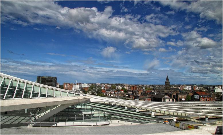 Blick auf die Stadt Lüttich (Belgien)