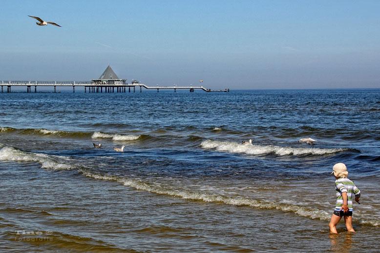 am Strand von Heringsdorf/Usedom