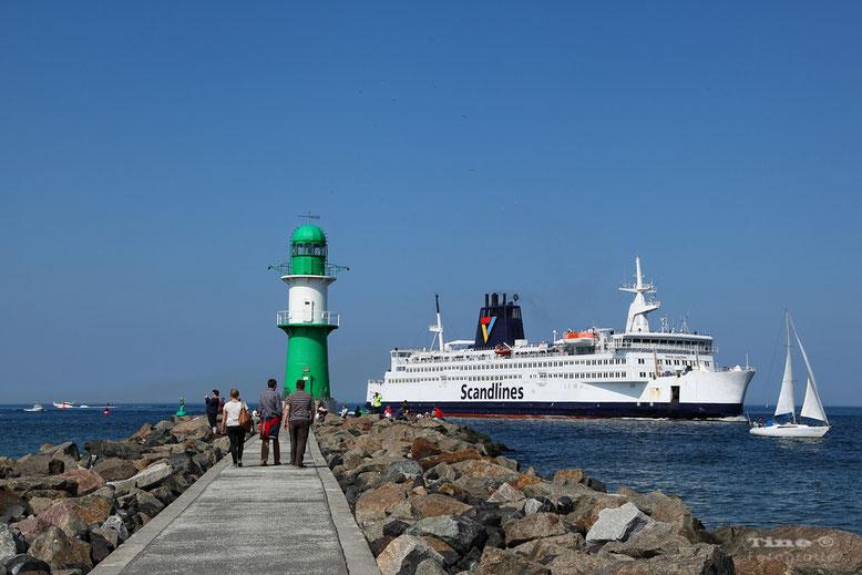 Westmole in Warnemünde