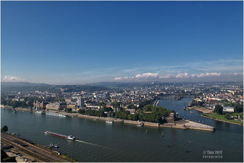 Blick von der Festung Ehrenbreitstein Koblenz