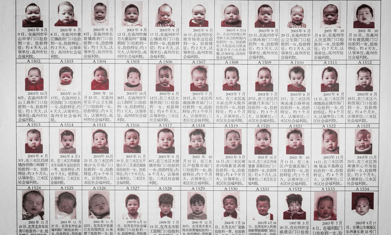 Newspaper images of 'adopted' babies