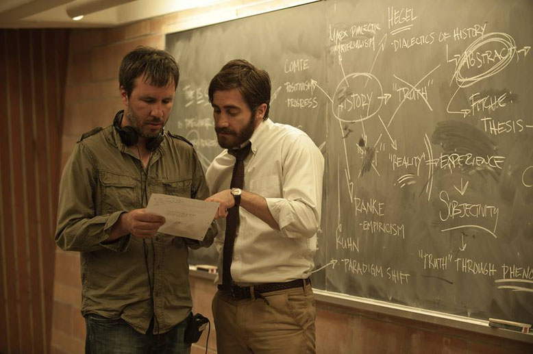 Denis Villeneuve With Jake Gyllenhaal On The Set Enemy